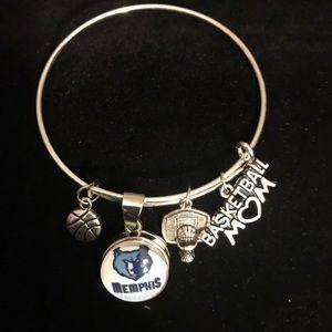Jewelry - NBA Memphis Grizzlies Basketball Mom Bracelet